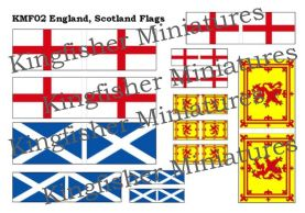 England & Scotland Flags
